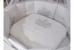 POLINI стразы КОРОНА универсальный комплект для круглой и овальной кровати белый