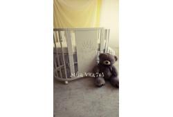 Кроватка трансформер с орнаментом 7в1 Mika Vita V.I.P. (крем)