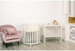 Кровать трансформер 7в1 Mimi белая(силиконовые накладки)
