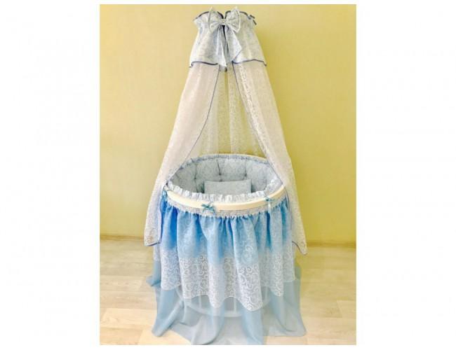 BABY-LUX голубой универсальный для круглой/овальной кровати