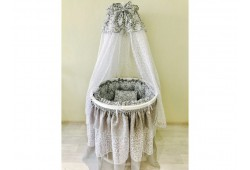 BABY-LUX серый универсальный для круглой/овальной кровати