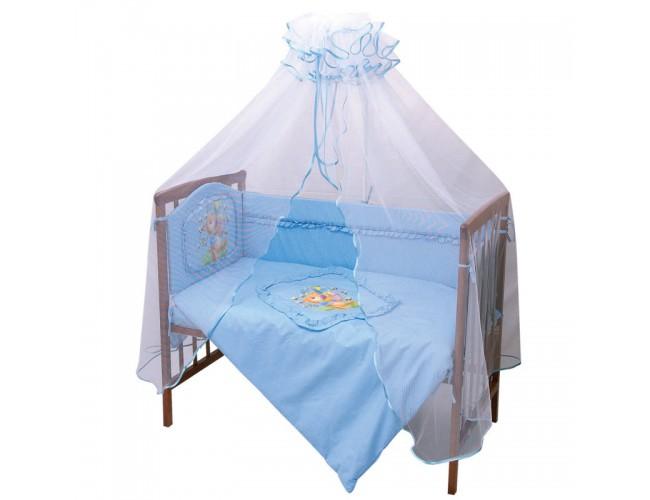Балдахин для детской кровати (голубой)