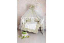 Балдахин в детскую кроватку сатин (оливковый)