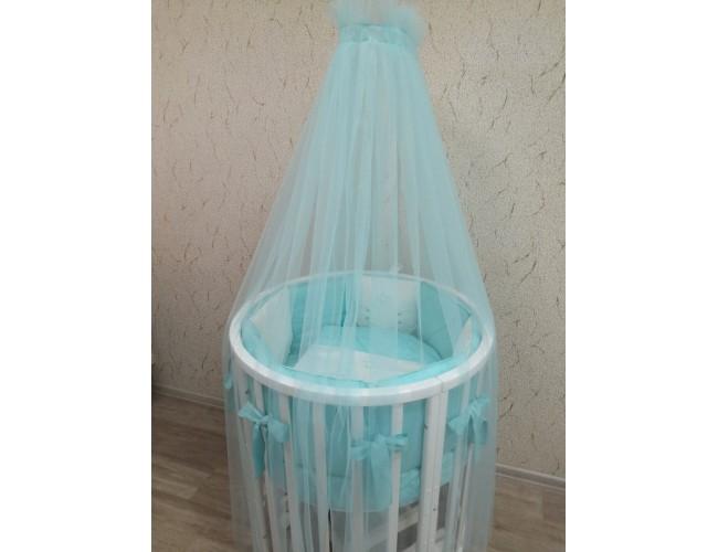 Балдахин для детской кровати (мята)