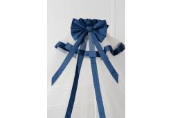 Балдахин в детскую кроватку сатин (синий)