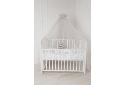 Балдахин для детской кровати (св.серый)