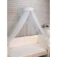 Балдахин для детской кровати (белый)