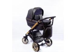 Детская коляска  Richmond GOLD 2 в 1 эко кожа (черная+золото)