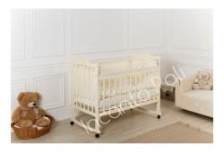 """Кровать детская """"Incanto Pali"""" (с мишкой, колесо/качалка) слоновая кость"""