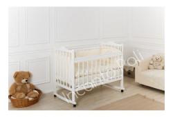 """Кровать детская """"Incanto Pali"""" (с мишкой, колесо/качалка) белый"""