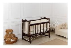 """Кровать детская """"Incanto Pali"""" (с мишкой, колесо/качалка) венге"""