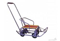 Санки на колесах су9 фиолетовые