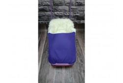 Универсани+меховой матрасик с муфтой для ног фиолетовый