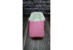 Универсани+меховой матрасик с муфтой для ног розовый