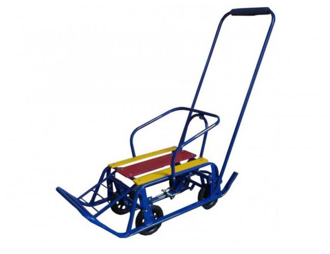 Санки на колесах су9 синие