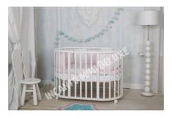 Круглая кроватка MIMI DELUXE 7в1 белая