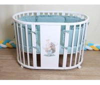 Детская Кроватка 7 в 1 Ежик (береза)
