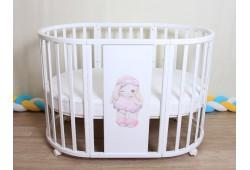 Детская Кроватка 7 в 1 Зайка (береза)