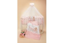 """Комплект для детской кроватки """"Династия"""" розовый"""
