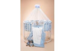 """Комплект для детской кроватки """"Династия"""" голубая"""