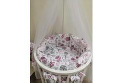 Комплект Карамельки с балдахином(розовые)