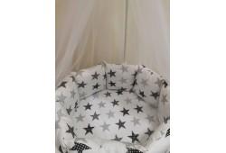 Комплект Звезды с балдахином (серые)
