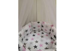 Комплект белья Звезды с балдахином (розовые)