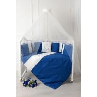"""Комплект для детской кроватки """"Butterfly"""". Цвет: сапфир"""