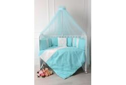"""Комплект для детской кроватки """"Butterfly"""". Цвет: тиффани"""