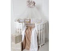 Комплект для круглой и овальной кровати Совята (капучино)