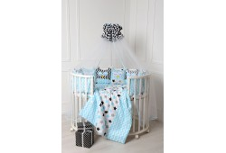 Комплект для круглой и овальной кровати Совята (бирюза)