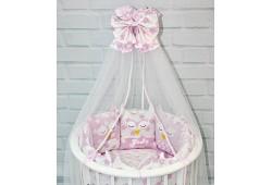 Комплект для круглой и овальной кровати Совята (розовый)