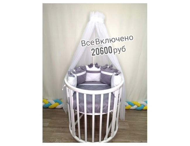 Все Включено за 20600 руб (текстиль Сатин Венеция серебро)