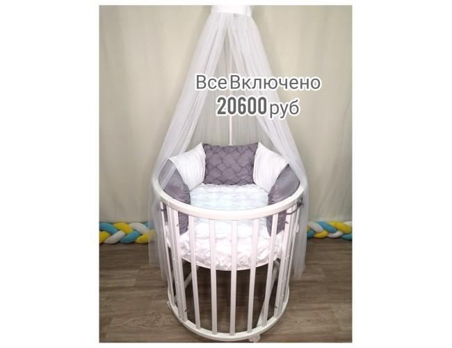 Все Включено за 20600 руб (текстиль Сатин Флоренция серебро)